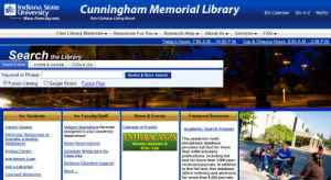 Indiana State University Cunningham Library Homepage