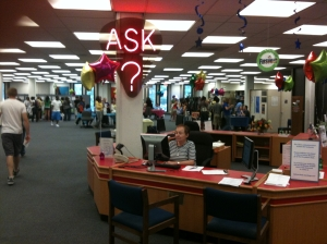 Reference Desk at the ISU Library