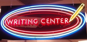 Writing Center Neon sign