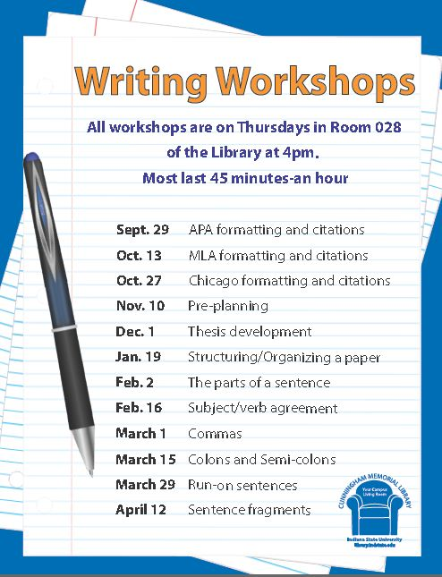 Writing Center Workshops Fall 2011