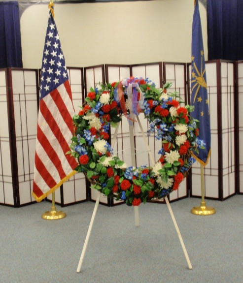 2011 Veterans Day Wreath, Library Events Area