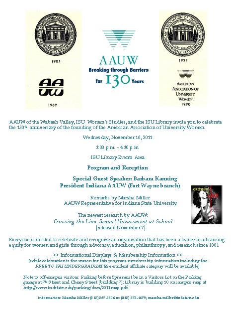 AAUW @ 130 Program and Reception