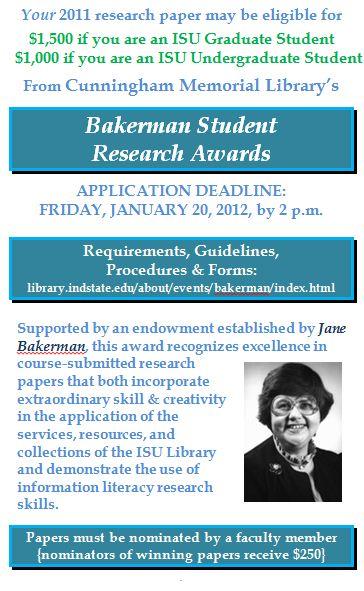 Bakerman Student Research Awards