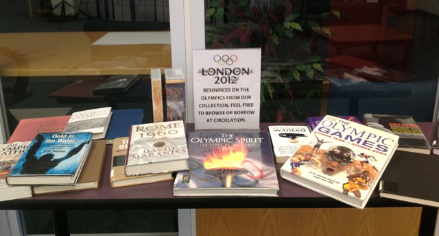 Library's Books on Olympics: Browse while watching or Check One Out!