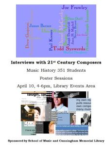 Spring 2013 - Interviews with 21st Century Composers