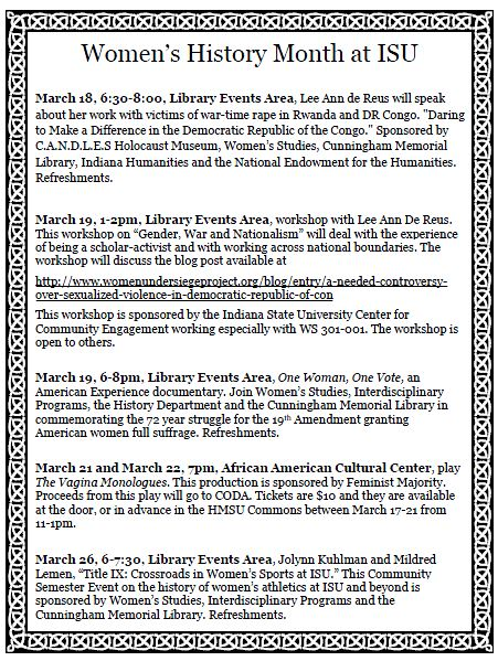 Women's History Month Events