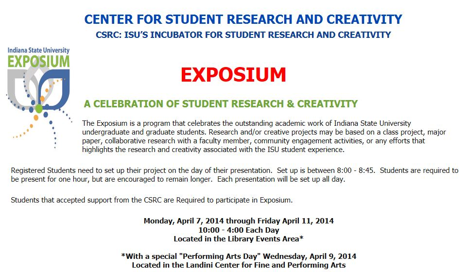 A CELEBRATION OF STUDENT RESEARCH & CREATIVITY