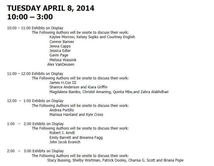 2014 Exposium - Tuesday schedule