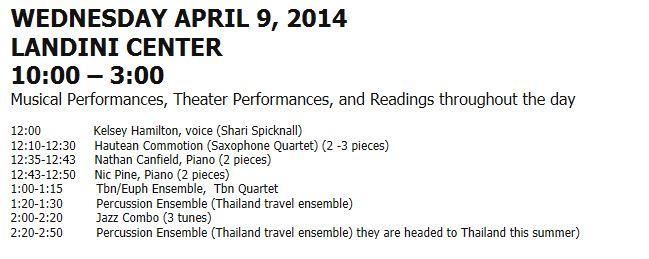 2014-Exposium - Wednesday schedule - all at Landini