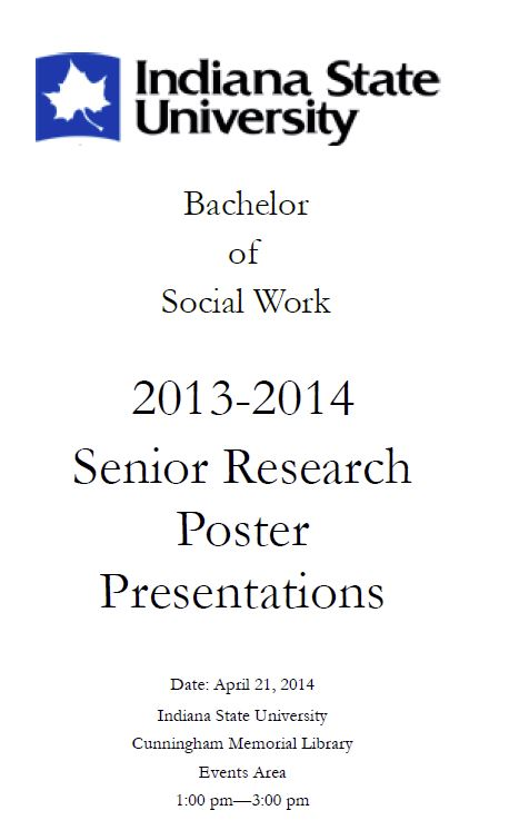Bachelor of Social Work Senior Research Poster Presentations