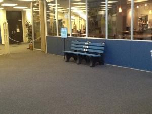 Library Lobby Entrance - Bench