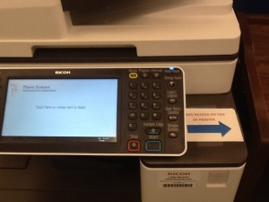 New Printers - New touchpad - or card swipe on the right side
