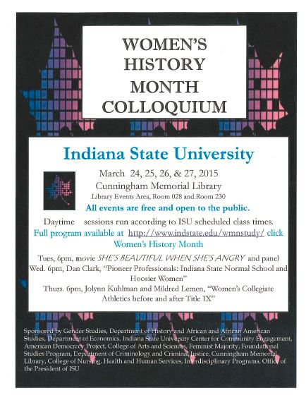 Women's History Month Colloquium - General Flyer
