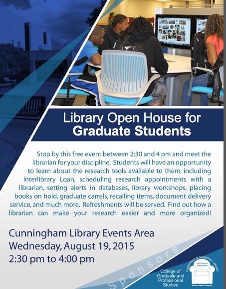 Grad Student Open House