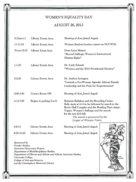 Women's Equality Day Schedule