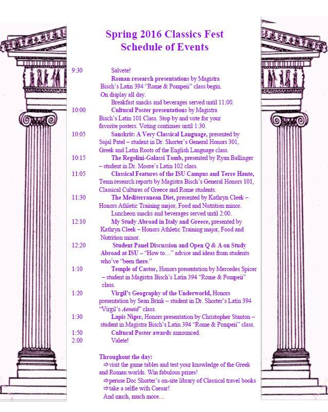 ClassicsFest-March2016-schedule